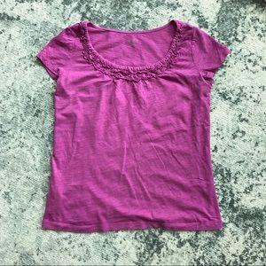 ANN TAYLOR LOFT pink magenta t-shirt tee S SP
